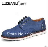 Cattle summer popular male plus size casual shoes male skateboarding shoes breathable suede shoes