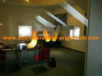 free shipping, 15 square meter ( 1.524 m  * 10 m )  transparent color rear projection film/foil