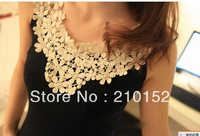 1PCS Free Shipping Promotion  New Fashion Women Brand Vest lace Woman's Sleeveless T-Shirt TANKS