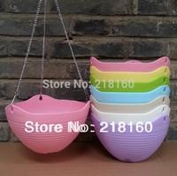 Chain Hanging Pot 5pcs/lot Decorative Vase Self-Watering Flower Pot Office Potted Plant 7 colors Mix Colors