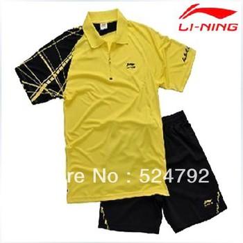Wholesale!Free shippng  Li-Ning Mens 2013 new Badminton /Tennis Chinese team Shirt Lin Dan Polo shirt