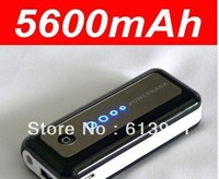 2013 hotest and newest Power Bank 5600mAh / External Battery pack and charger for iphone 5 4S / SAMSUNG Galaxy SIV S4 / HTC One