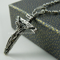 316L Stainless Steel Jesus Cross Pendant Necklace For Men Fashion 316L Stainless Steel Jewelry 13063008
