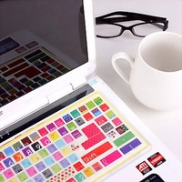 free shipping Korean Notebook colorful film desktop keyboard stickers protective film cartoon