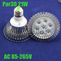 Freeshipping 12pcs/lot dimmable 21W  high power PAR30 epistar LED E27 21W LED light bulb lamp