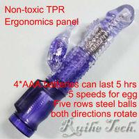 5 speeds Vibrating dildo with Clitoris stimulator/G-spot Vibrator,Turn Beads Multi-Speed Dildos Vibrator,Sex Toys/sex products