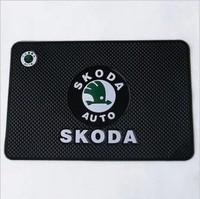 multipurpose non-slip mat Car Skidproof Mat glasses Antiskid mat Skoda logo Superb Octavia Fabia
