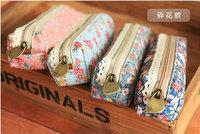 F46-56 New vintage dots flower lace series pencil bag/pencil pouch/pen bag/cotton bag/wholesale /Free shipping