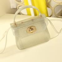 2013 mini crystal transparent bag jelly handbag fashion messenger bag handbag women's bag