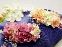 The bride hair accessory hair accessory fresh flower gauze hairpin hair maker hair accessory hair pin marriage accessories