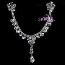 The bride wedding dress formal dress accessories white tassel bride princess hair accessory rhinestone marriage accessories