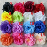 100pcs/lot 8CM Artificial flower head, High Simulation Silk Rose Flower, 16 Colors Assorted Flower Head Wedding Decoration