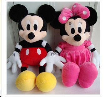 Free shipping 70cm 2pcs/lot Mickey Mouse Minnie mouse plush toys Christmas gift the birthday gift -s001