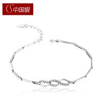 Cs silver dr. peach flower 925 pure silver women's bracelet gift accessories jewelry