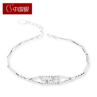 Cs silver 520 925 pure silver bracelet silver women's bracelet gift accessories jewelry