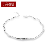 Cs silver national trend 925 pure silver women's bracelet gift accessories gift accessories