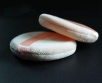 wholesale Ribbon powder puff ribbon round sponge naked professional cosmetic 20 pcs Free Shipping Facial Face Makeup make up m82