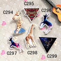 MIN MIX  ORDER  IS $10   new arrival hotsale acrylic badge cartoon deer popular pin brooch good gift FREE SHIPPING