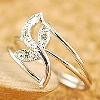 Min.order is $10 (mix order) free shipping,Han edition tide female tulip leaf ring double layers of rings.welcome to order