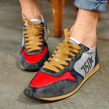 Tcc limited men's clothing new arrival men's trend color block letter decoration sports shoes low-top casual male shoes male