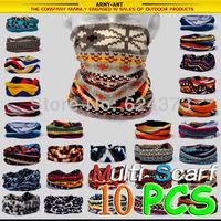 10 PCS-Multi Scarf Neck Bandana Mask Hat Cap Heardwear Tubu 15% Pashm Warm Cover Bike Cycling Hikiing Hunting Fising Scarves