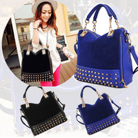 NEW Korean Fashion Women lady Rivet Tote Shoulder Messenger Handbag Hobo Bag