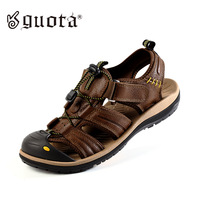 Free shipping Guota casual bag genuine leather sandals male sandals outdoor sports sandals gt6078
