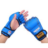 Mma decorating wulong semi-finger gloves fighting gloves boxing gloves