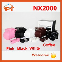 Free shipping Pu leather camera bag for SAMSUNG NX2000 20-50mm II (Can Drop Shipping)
