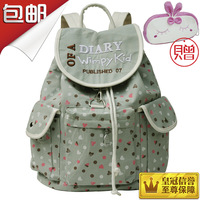 Canvas cartoon student backpack school bag primary school students female 1306 preppy style