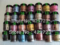 FREE SHIPPING MAKEUP New 7.5g pigment English Name Eye Shadow 28 Colors ( 10pcs/lot)