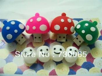 Mushroom head model USB 2.0 Enough Memory Stick Flash pen Drive 4G 8G