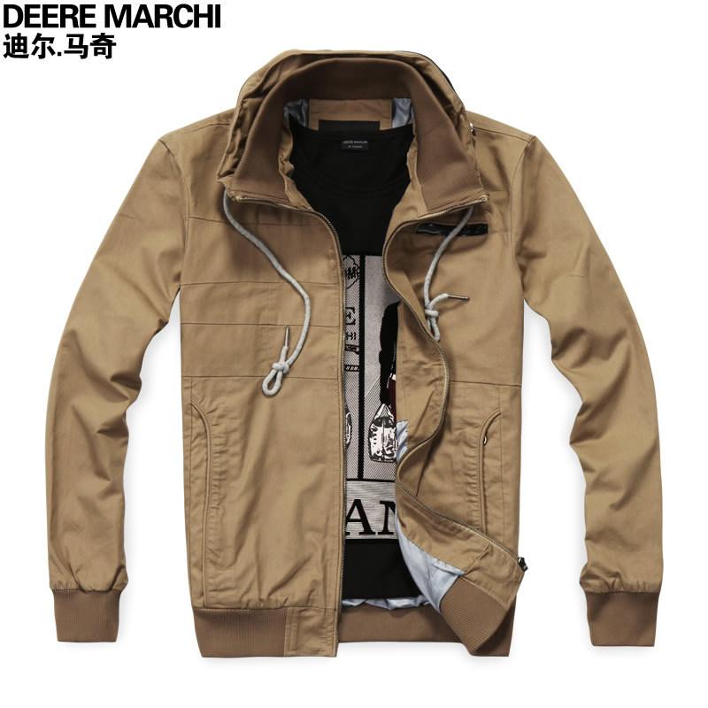 Free shipping xxl jacket double collar casual jacket male khaki fashion slim outerwear dj14 down winter