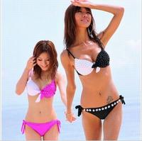 Steel 2014 sexy push up big large cup female plus size swimwear triangle bikini hot summer swimsuit