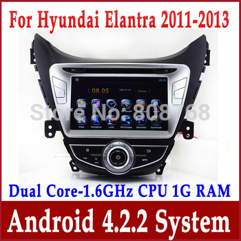 Android 4.0 Auto PC Car DVD Player GPS Navigation for Hyundai Elantra Avante I35 with Radio Bluetooth TV Map USB Audio 3G WIFI
