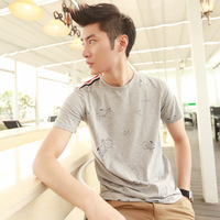 Men's clothing 2013 summer male t-shirt bicycle T-shirt print short-sleeve t-shirt p35