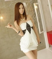 New arrival 12 summer paillette patchwork pad gauze decoration sexy tube top tube top dress formal one-piece dress