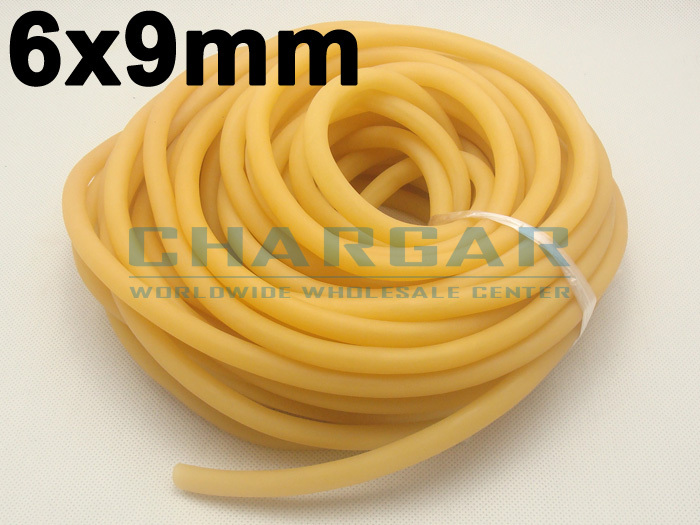 (5M without joint) 6x9mm Natural Latex Rubber Band Bungee Accessory for Outdoor Hunting Slingshot Catapult Elastic Parts #6090(China (Mainland))