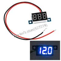Mini Blue LED Digital Voltmeter Voltage Volt Meter Panel 3.3-30V
