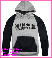 Stock Free Shipping Cheap Raglan sleeve 2014 Men's Billionaire Boys Club sweatshirts new arrival Men'sHip Hop BBC hoodies.