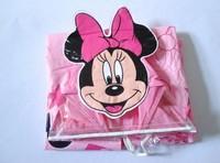 Retail&Wholesale cartoon minnie design Children raincoat/poncho girls rainwear PVC raincoat with backpack pocket free shipping
