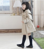 Wholesale age season fashion elegant girls clothing both double-breasted coat coat free shipping
