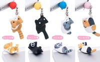 Wholesale 24pcs/lot new desigers play cat Dust Plug,sweet home cat Dust plug for iPhone 5 mobile phone with retail box