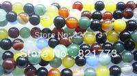 semiprecious stone 8mm round mix-colored agate loose bead strand