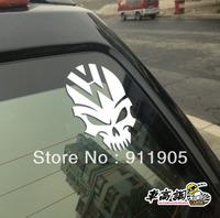 8X10 FREESHIPPING 3M VW polo gti scirocco skull car accessories Reflective car Bike body reflective stickers car stickers