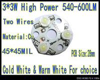 10pcs/Lot 9W 3*3W High Power Warm White LED 600LM 32mm PCB Star Platine Heatsink for Plant Grow Aquarium