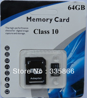 Best Seller SD Card 64GB class 10 Micro SD Memory Card TF SD card  64G  with retail packaging adapter free shipping