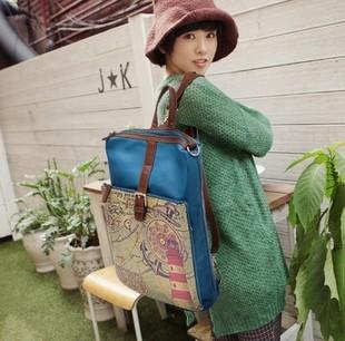 2013 women's backpack female leather handbag middle school students school bag vintage backpack fashion travel bag