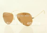 New style Classic metal sunglass men's/woman's Fashion Gold pink sunglasses 58mm case box