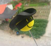 Good quality Fashion car aerial decoration Yellow Pilot Ball Antenna Ball Topper  Antenna Ball free shipping